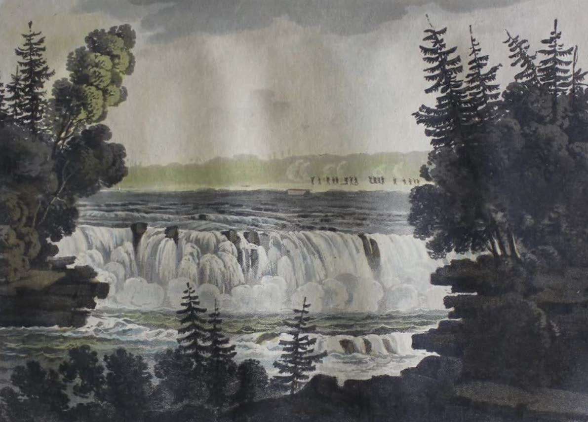 Travels Through the Canadas - Grande Chaudiere on the Outaouais River (1807)