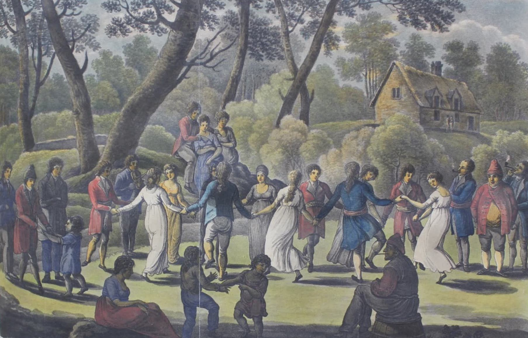 Travels Through the Canadas - La Danse Ronde (1807)