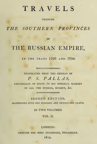 Travels through the Southern Provinces of the Russian Empire Vol. 2 (1812)