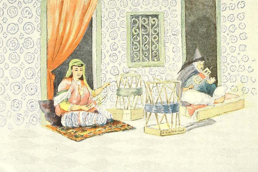 Femmes tunisiennes dévidant de la soie