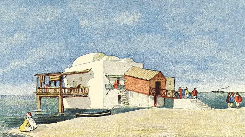 Le bain des femmes sur la plage de la Marsa