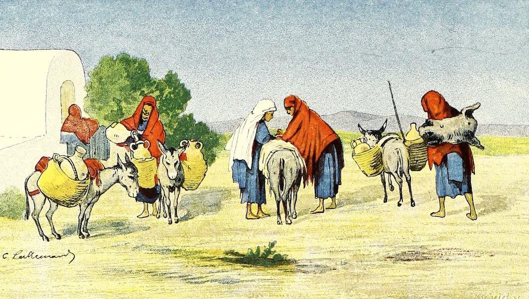 Femmes nomades à la fontaine