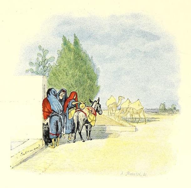 Femmes nomades a la fontaine