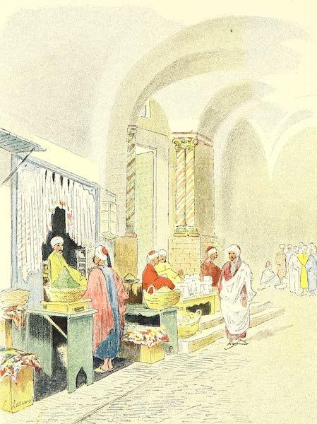 L'entrée de la grande mosquée Zitouna : les parfumeurs et les Marchands de savon