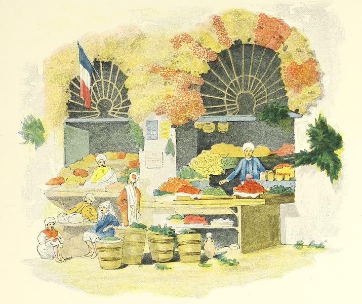Tunis et ses Environs - Boutique de légumes et de fruits au grand marché (1892)