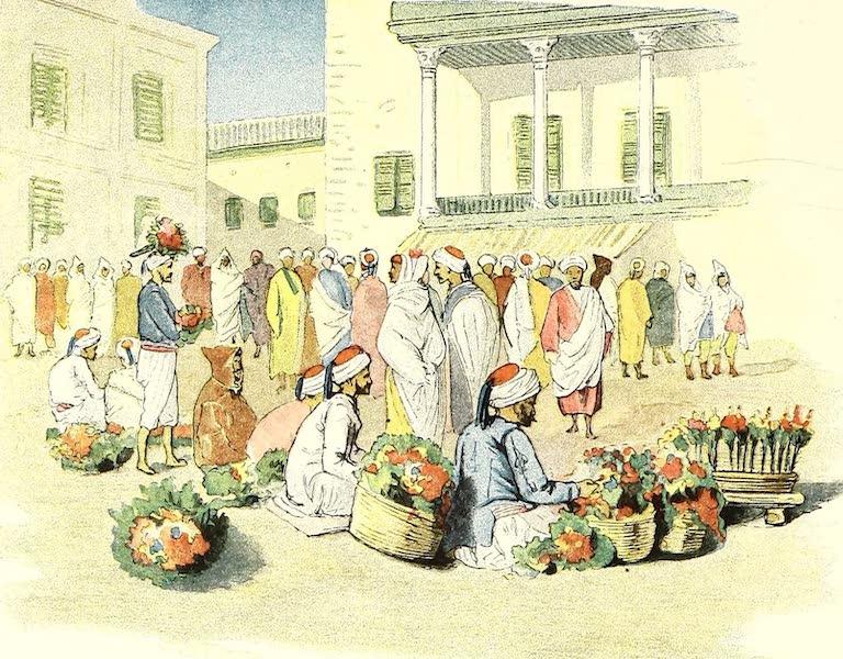 Les marchands de fleurs sur la place de la Bourse