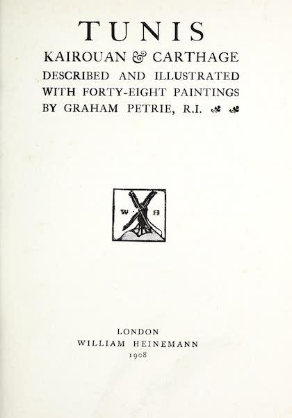 Tunis, Kairouan & Carthage - Title Page (1908)