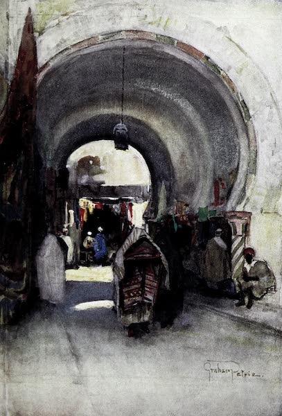 Tunis, Kairouan & Carthage - Veiled Women in the Souk-des-Etoffes, Tunis (1908)
