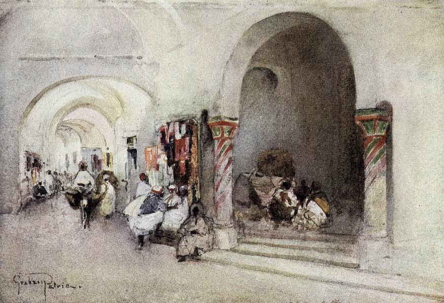 Tunis, Kairouan & Carthage - Entrance to the Grand Mosque from the Souk-el-Attarin, Tunis (1908)