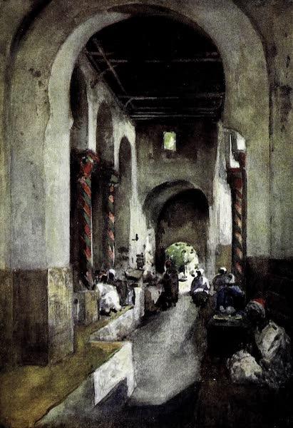 Tunis, Kairouan & Carthage - Interior of the Cafe des Marabouts, Tunis (1908)