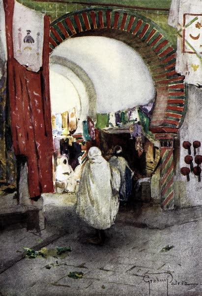 Tunis, Kairouan & Carthage - Entrance to the Souk-des-Etoffes from the Souk-el-Trouk, Tunis (1908)