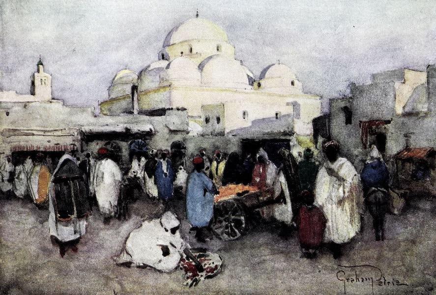 Tunis, Kairouan & Carthage - Place Bab-Souika and the Mosque of Sidi Mahrez, Tunis (1908)