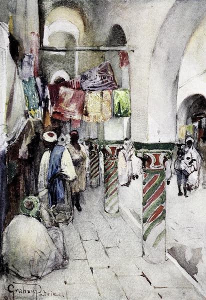 Tunis, Kairouan & Carthage - Side-walk in the Souk-des-Etoffes, Tunis (1908)