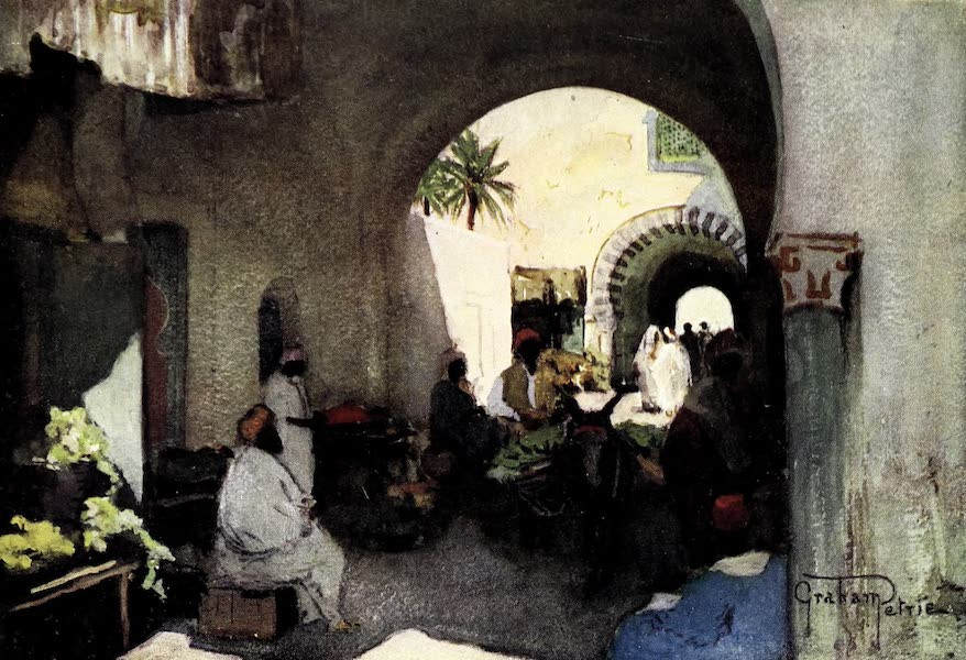 Tunis, Kairouan & Carthage - A Typical Street, Tunis (1908)