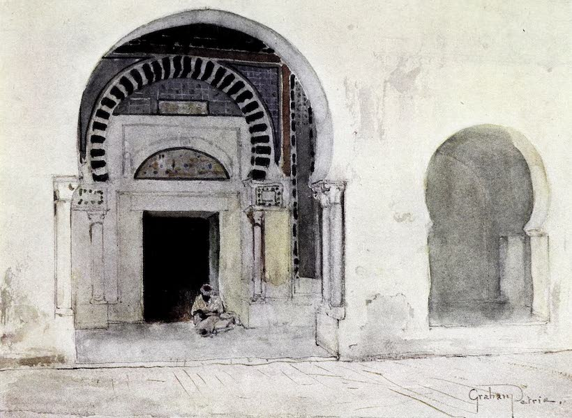 Tunis, Kairouan & Carthage - Entrance to the Mosque du Barbier, Kairouan (1908)