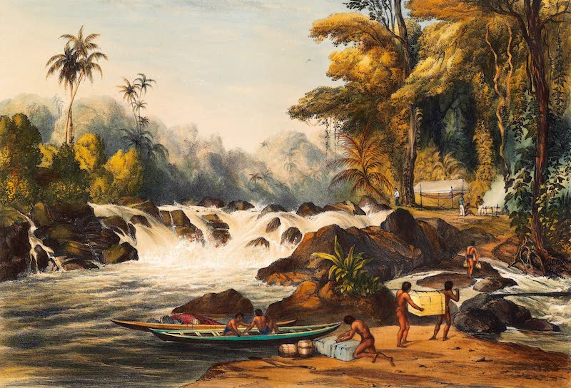 Twelve Views in the Interior of Guiana - Itabru and Christmas Cataracts on the River Berbice (1841)