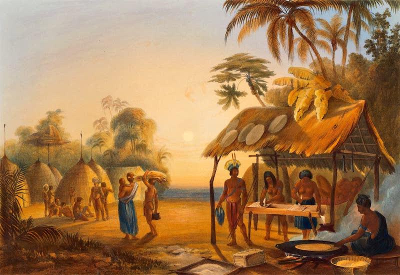 Twelve Views in the Interior of Guiana - Watu Ticaba, A Wapistana Village (1841)