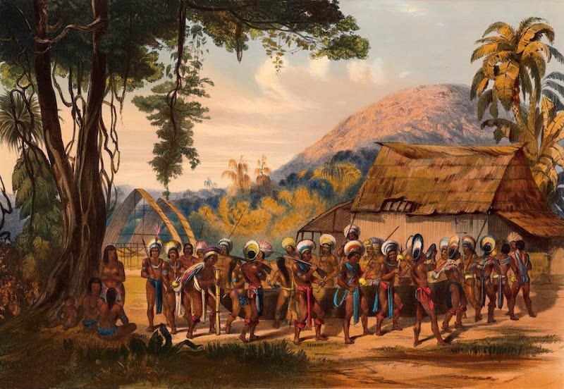 Twelve Views in the Interior of Guiana - Caribi Village Anai Near the River Rupununi (1841)