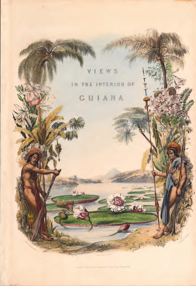 Twelve Views in the Interior of Guiana - Illustrated Title Page (1841)