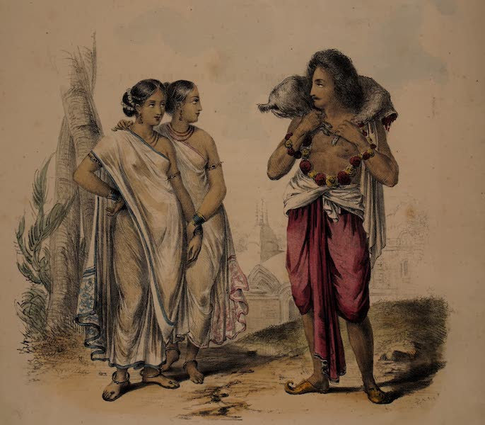 Twenty Four Plates Illustrative of Bengal - A Hindoo returning from Callee-Ghaut (1832)