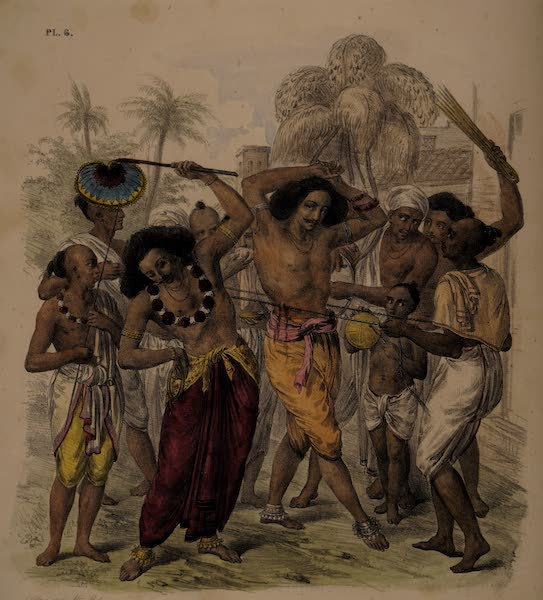 Twenty Four Plates Illustrative of Bengal - Feast of the Churruck Poojah [I] (1832)