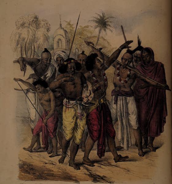 Twenty Four Plates Illustrative of Bengal - Feast of the Churruck Poojah [II] (1832)