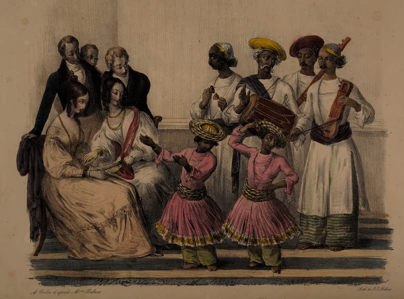 Twenty Four Plates Illustrative of Bengal - Bayee's or dancing Boy's (1832)