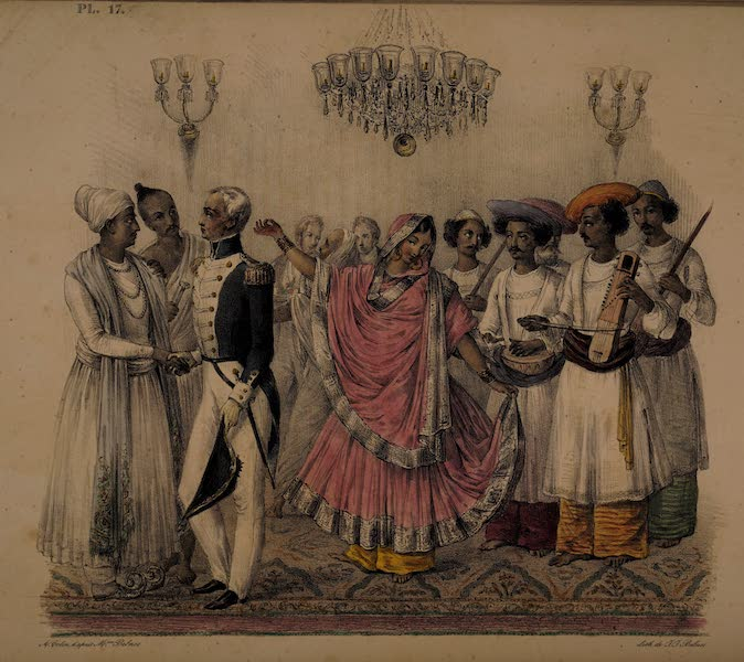 Twenty Four Plates Illustrative of Bengal - A Nautch [I] (1832)