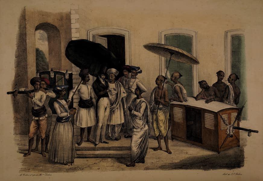Twenty Four Plates Illustrative of Bengal - A civilian going out (1832)