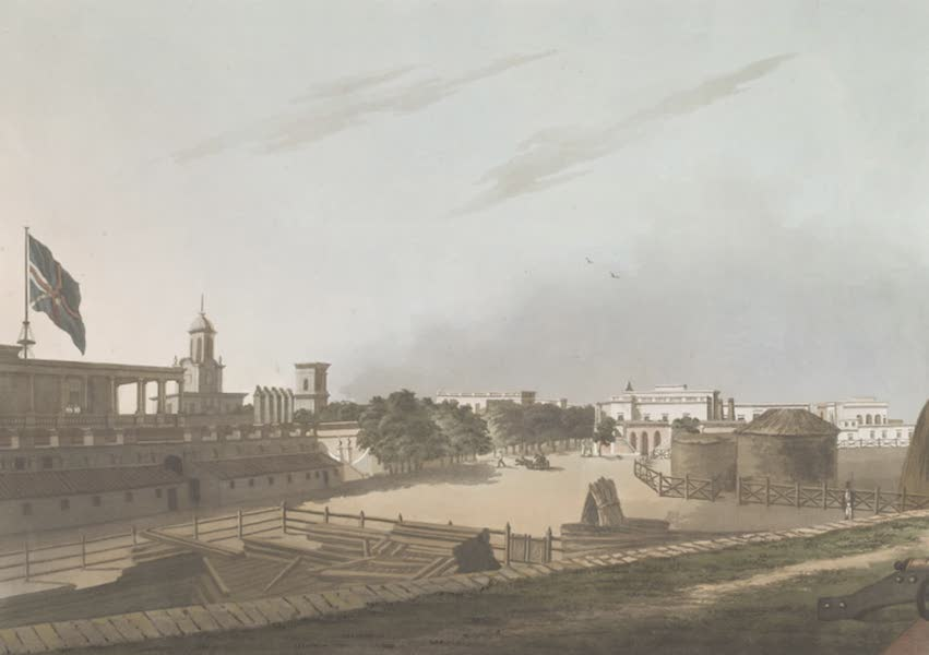24 Views in Indostan by William Orme - A View from the King's Barracks, Fort St. George (1802)