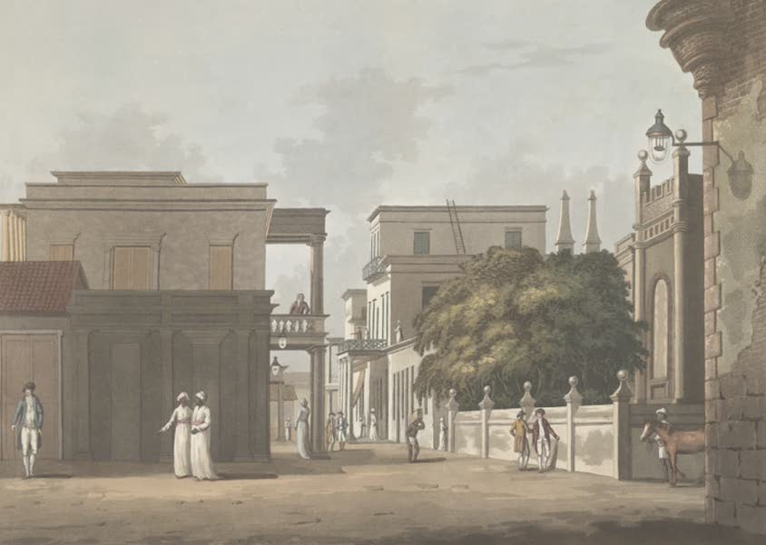 24 Views in Indostan by William Orme - A View of Part of St. Thome Street, Fort St. George (1802)