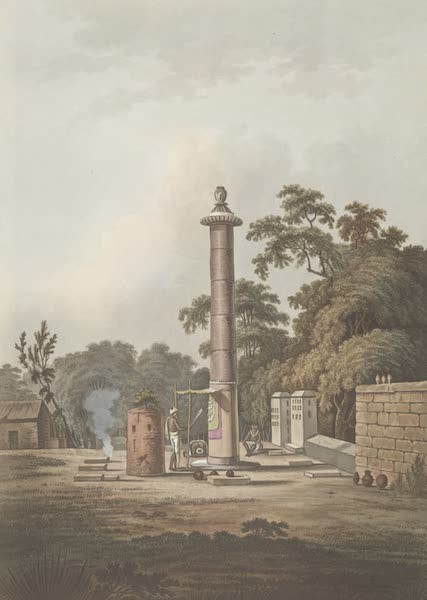 24 Views in Indostan by William Orme - A Hindoo Place of Worship (1802)