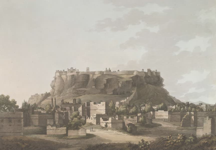 24 Views in Indostan by William Orme - Fortress of Gwalior, taken by General Popham in 1779 (1802)