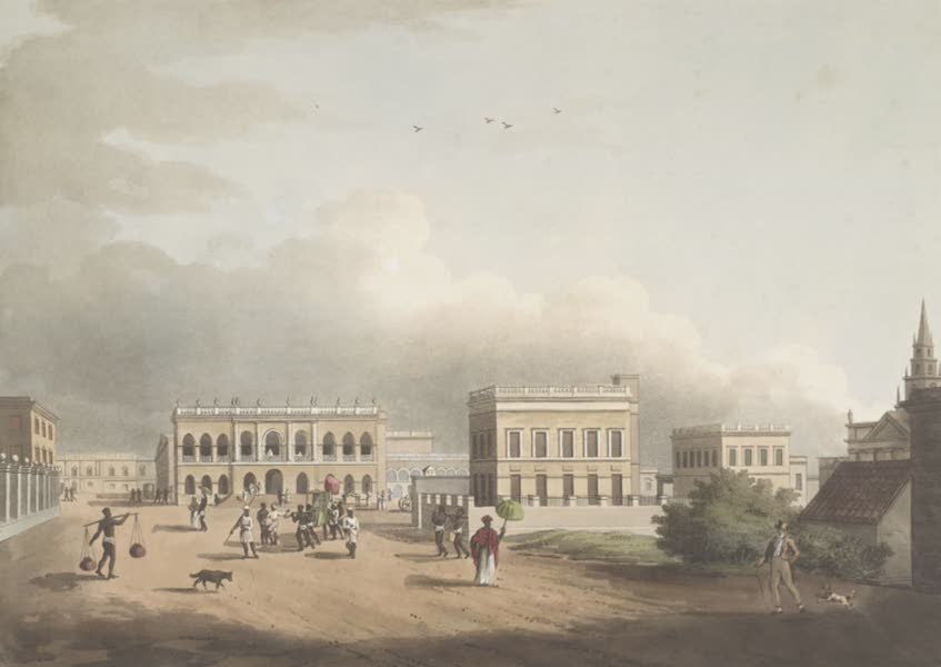 24 Views in Indostan by William Orme - The Old Court House, Calcutta (1802)