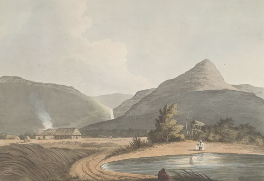 24 Views in Indostan by William Orme - Distant Views of Mootee Thurna [Motijhama] (1802)