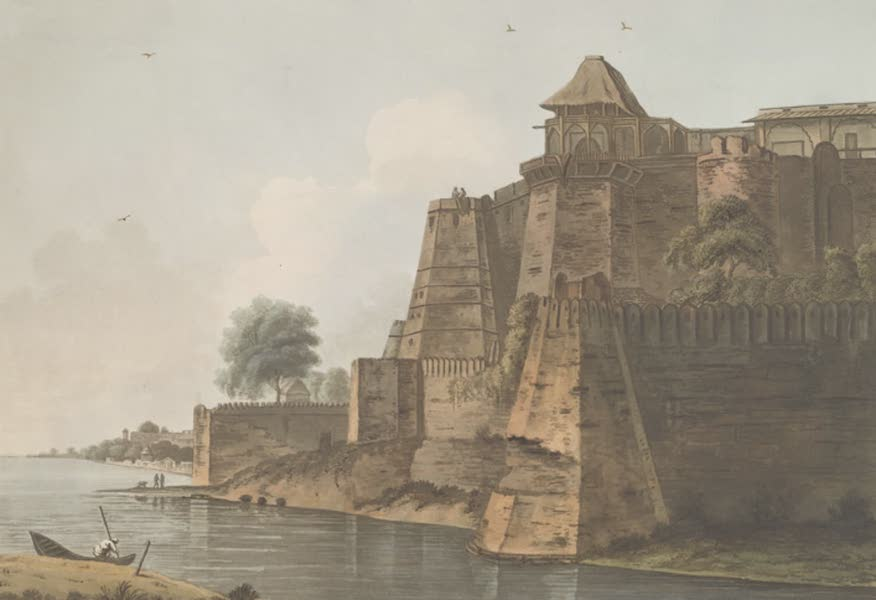24 Views in Indostan by William Orme - Multura Fort, (on the Jumna) (1802)