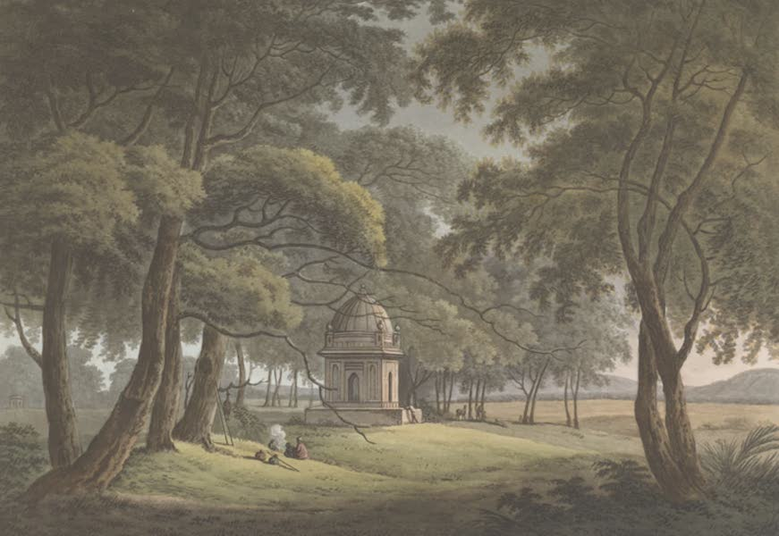 24 Views in Indostan by William Orme - The Tomb of a Moorish Lady, Bengal (1802)