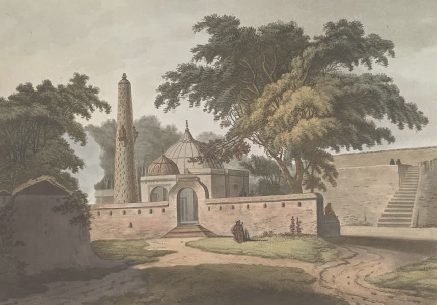 24 Views in Indostan by William Orme - The Burial Place of a Peerzada, Anopther (1802)