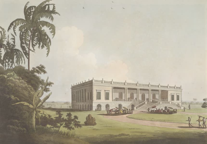 24 Views in Indostan by William Orme - Felicity Hall, Late the Residence of the Honble. David Anstruther, near Moorshedabad, Bengal (1802)