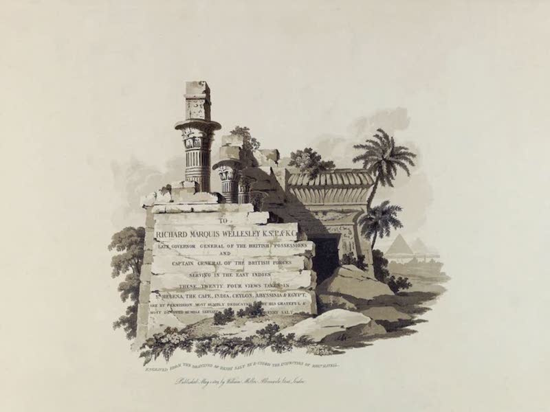 Twenty-Four Views Taken in St. Helena, the Cape, India, Ceylon, Abyssinia, and Egypt - Title Page (1809)