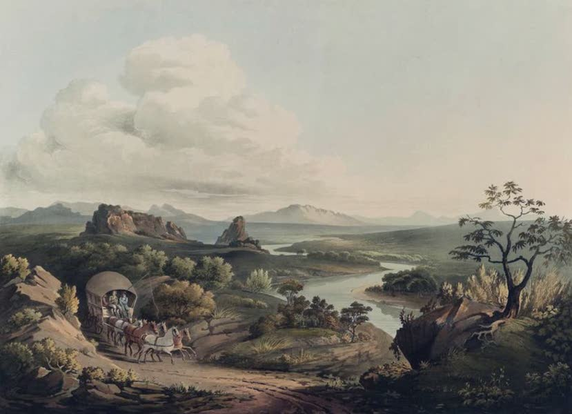 Twenty-Four Views Taken in St. Helena, the Cape, India, Ceylon, Abyssinia, and Egypt - A View near the Roode Sand Pass at the Cape of Good Hope (1809)