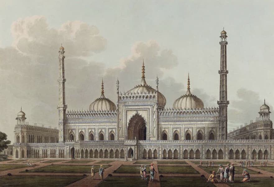 Twenty-Four Views Taken in St. Helena, the Cape, India, Ceylon, Abyssinia, and Egypt - Mosque at Lucknow (1809)