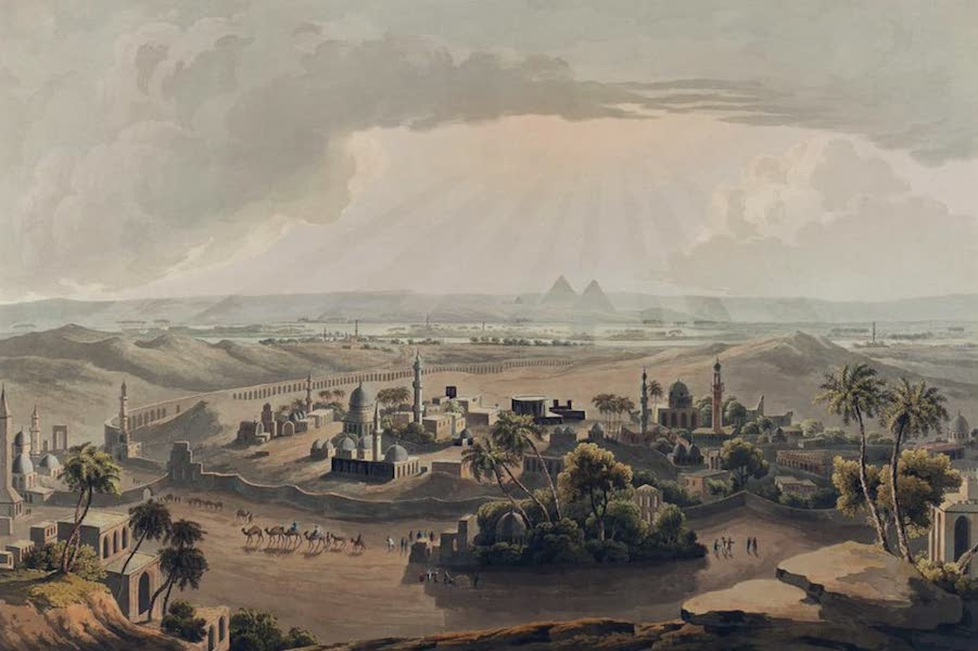 Twenty-Four Views Taken in St. Helena, the Cape, India, Ceylon, Abyssinia, and Egypt - The Pyramids at Cairo (1809)