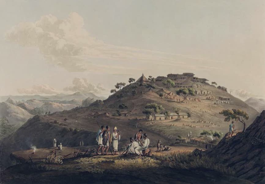 Twenty-Four Views Taken in St. Helena, the Cape, India, Ceylon, Abyssinia, and Egypt - The Town of Dixan in Abyssinia (1809)
