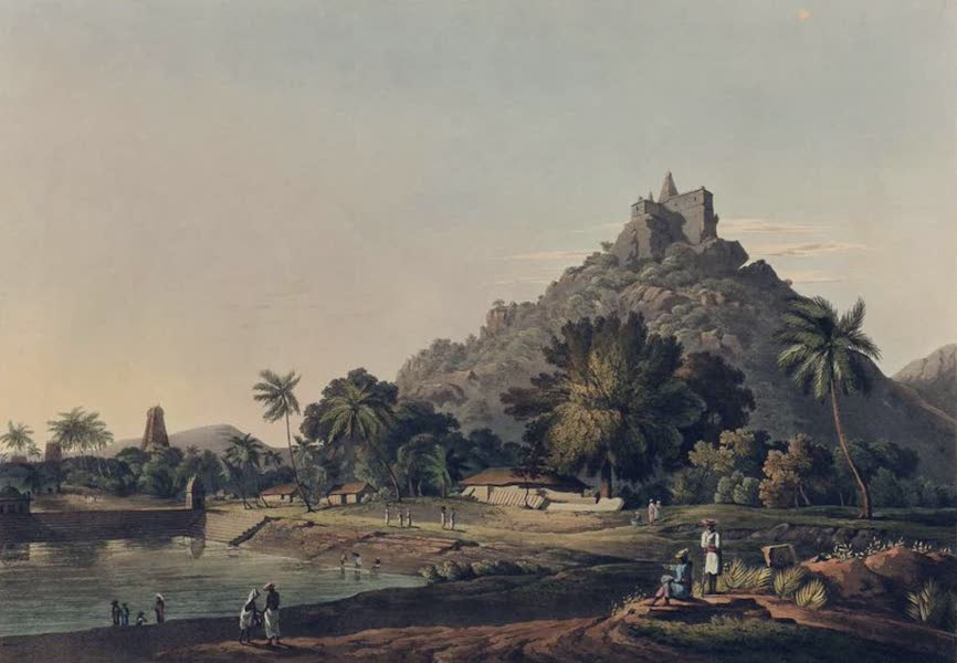 Twenty-Four Views Taken in St. Helena, the Cape, India, Ceylon, Abyssinia, and Egypt - Pagoda at Trinchicunum (1809)