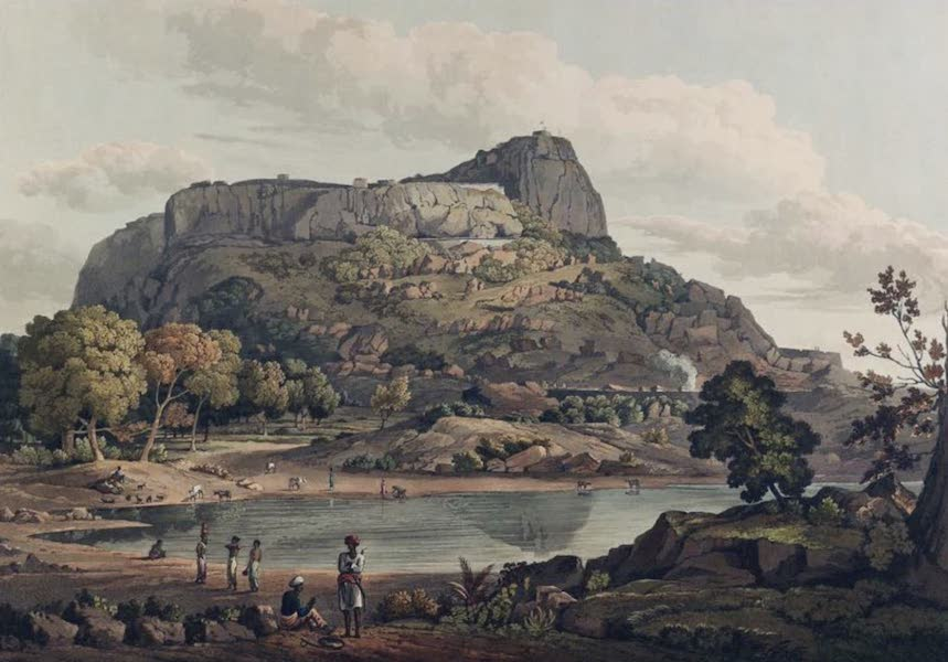 Twenty-Four Views Taken in St. Helena, the Cape, India, Ceylon, Abyssinia, and Egypt - Riacotta in the Baramahal (1809)