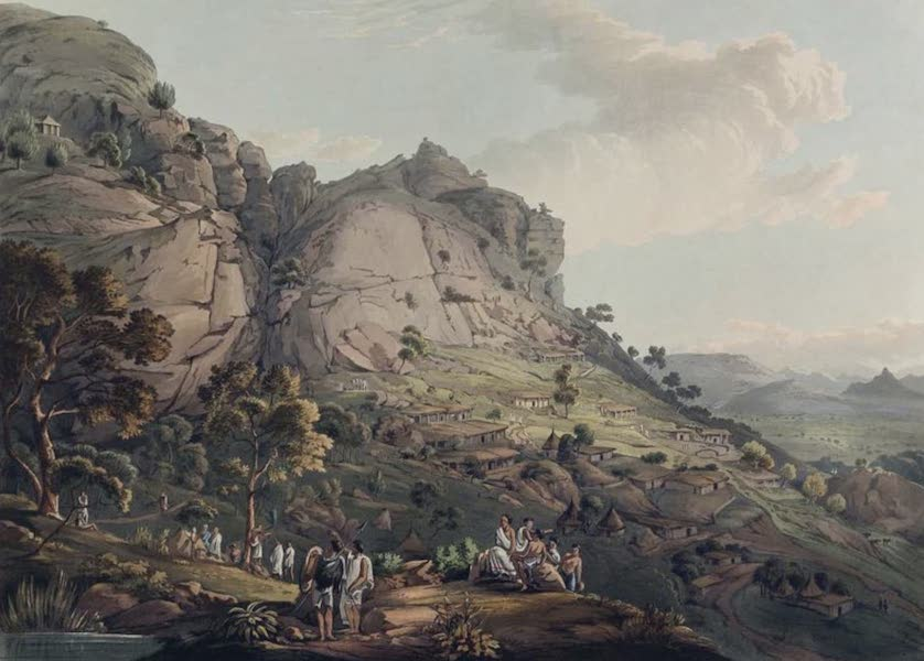 Twenty-Four Views Taken in St. Helena, the Cape, India, Ceylon, Abyssinia, and Egypt - The Town of Abha in Abyssinia (1809)