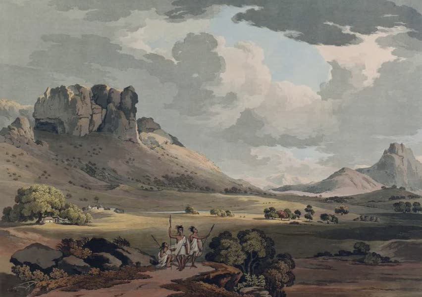Twenty-Four Views Taken in St. Helena, the Cape, India, Ceylon, Abyssinia, and Egypt - The Vale of Calaat (1809)