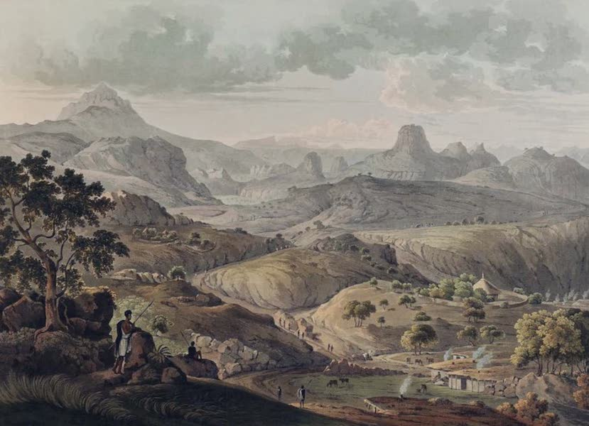Twenty-Four Views Taken in St. Helena, the Cape, India, Ceylon, Abyssinia, and Egypt - View near the Village of Asceriah in Abyssinia (1809)
