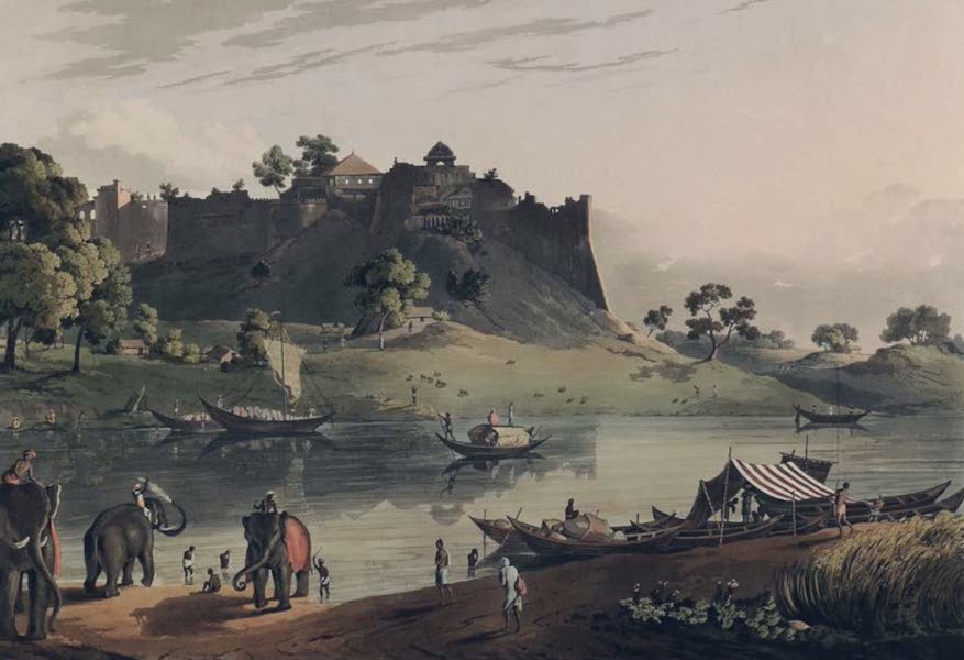 Twenty-Four Views Taken in St. Helena, the Cape, India, Ceylon, Abyssinia, and Egypt - Ruins of the Fort at Juanpore on the River Goomtee (1809)
